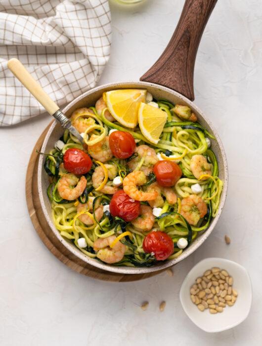 Zucchini Noodles with Shrimps