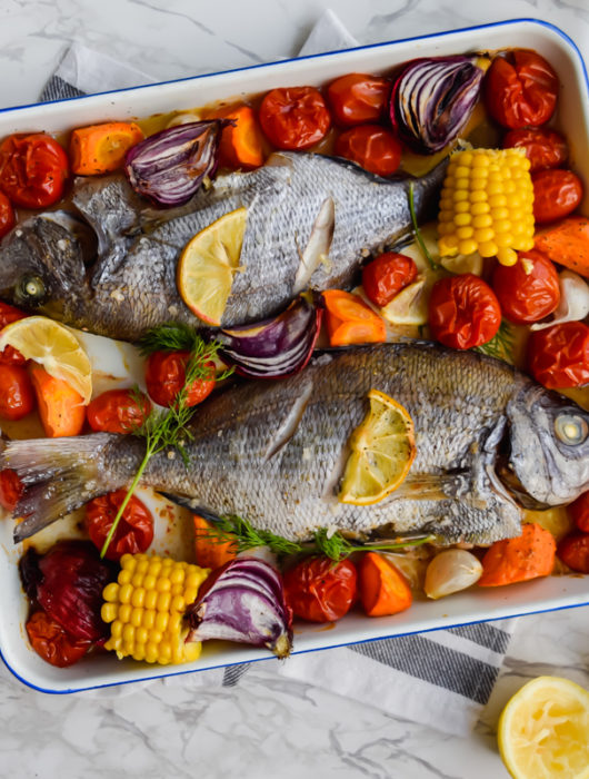Dorade with roasted vegetables
