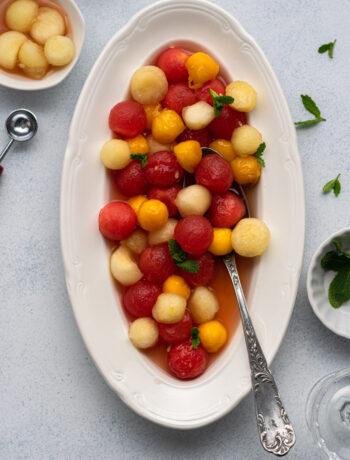Lemongrass Infused Fruit Salad