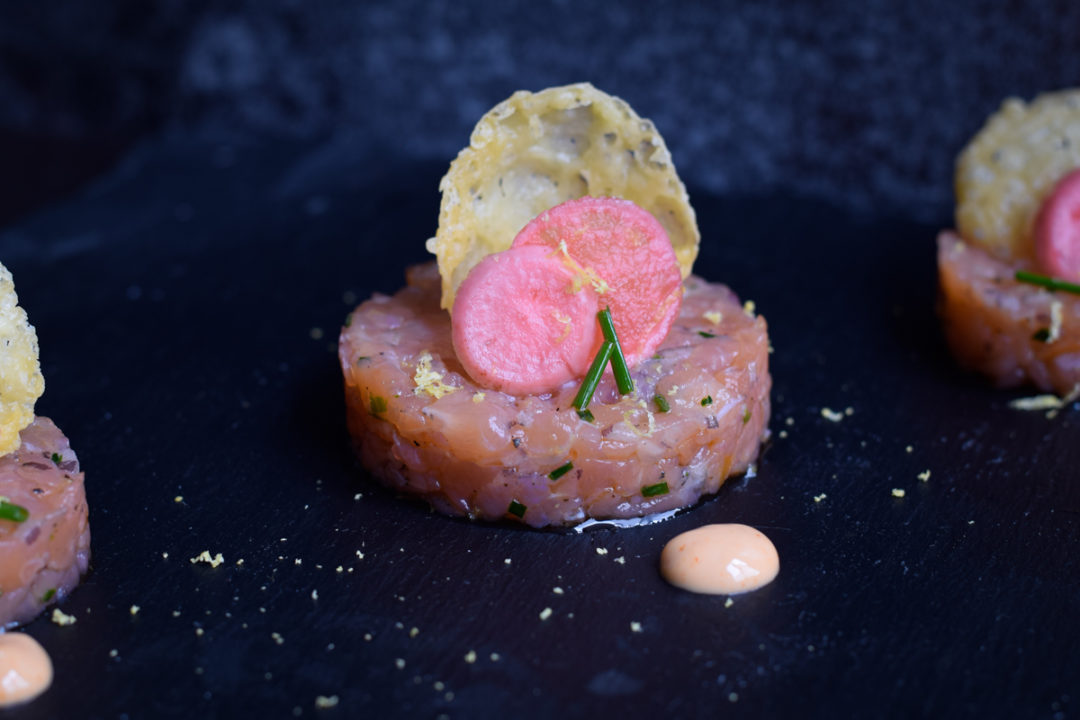 Salmon Tartare with Pickles