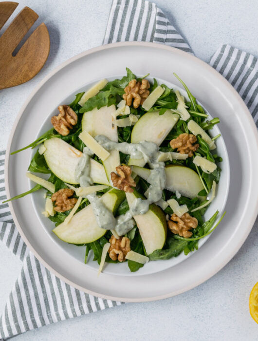 Pear Salad with Blue Cheese Sage Dressing